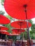 Outdoor restaurant  in Chaingmai Royalty Free Stock Photo