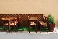Outdoor Restaurant, Gallipoli Royalty Free Stock Images