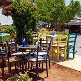 Outdoor restaurant, Greece Royalty Free Stock Photos