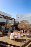 Outdoor restaurant of modern luxury hotel Stock Image