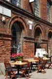 Outdoor restaurant on OFF Piotrkowska in Lodz Stock Image