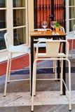 Outdoor restaurant patio Stock Photos