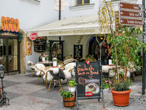 Outdoor restaurant in Prague Royalty Free Stock Photos