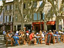 Outdoor restaurant, Provence, France Stock Photography