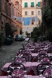 Outdoor restaurant in Rome Stock Photos