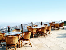 Outdoor restaurant seating Stock Photography