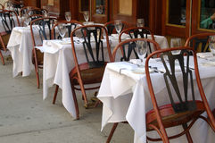 Outdoor restaurant sitting royalty free stock photo