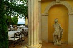 Outdoor restaurant statue decoration Royalty Free Stock Photos