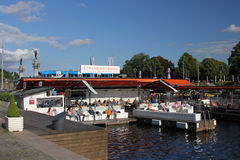 Outdoor restaurant, Stockholm royalty free stock photography