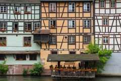 Outdoor restaurant in Strasbourg Royalty Free Stock Image