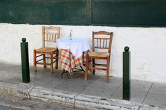 Outdoor Restaurant Table Stock Images