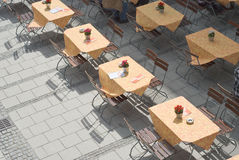 Outdoor Restaurant Tables Stock Photos