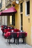 Outdoor restaurant in Venice Stock Photos