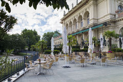 Outdoor restaurant. In Viena, close to the center Stock Photos