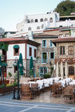 Outdoor restaurants on old streets of Marmaris Royalty Free Stock Image