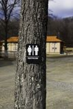 Outdoor Restroom. Restroom area out in the open under the tree Stock Photography