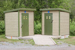 Outdoor Restroom Facilities Royalty Free Stock Photography