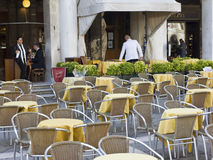 Outdoor restuarant in St Marks Square. Stock Image