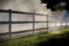 Outdoor riding arena fence Stock Photography