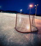 Outdoor rink hockey net Royalty Free Stock Photo