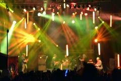 Outdoor rock concert stock photos