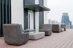 Outdoor Roof Terrace Stock Photo