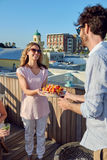 Outdoor rooftop barbeque Stock Images