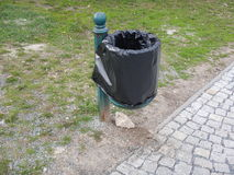Outdoor rubish bin in a park Royalty Free Stock Images