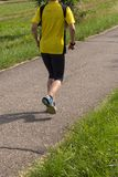 Outdoor running or cycling in sunny summer Royalty Free Stock Photo