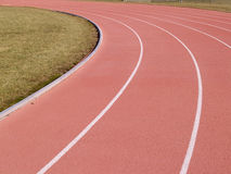 Outdoor running track Stock Images