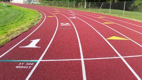 Outdoor running track Royalty Free Stock Photo