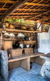 A Outdoor Rural Kitchen. In Ubud, Bali Royalty Free Stock Photo