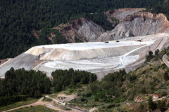 Outdoor salt mine Stock Photos