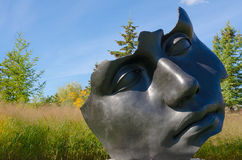 Outdoor sculpture at Frederik Meijer Gardens and Sculpture Park. Royalty Free Stock Photography