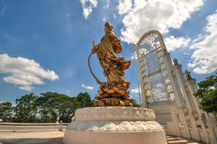 The outdoor sculpture of Guanyin. Royalty Free Stock Photo