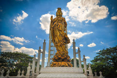 The outdoor sculpture of Guanyin. Stock Photos