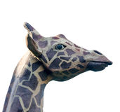 Outdoor sculpture head of a giraffe, close up, isolated Stock Photo