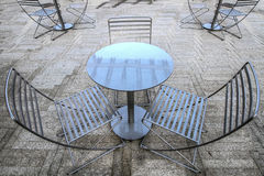 Outdoor Seating. For a Bistro in Portland Oregon Stock Photos