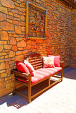 Outdoor seating area Stock Photography