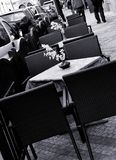 Outdoor seating Royalty Free Stock Photography