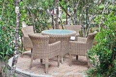 Outdoor seating Stock Photos