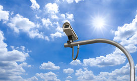 Outdoor Security cctv cameras under Stock Images