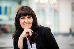 Outdoor senior business woman portrait Stock Photography