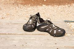 Outdoor shoes Stock Photo