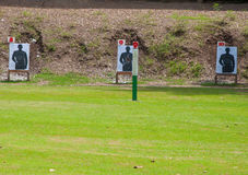 Outdoor shooting target in lawn Stock Photos