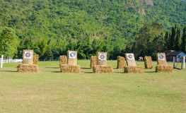 Outdoor shooting target in lawn Royalty Free Stock Images