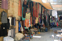Outdoor Shop in the Christian Quarter Israel Royalty Free Stock Image