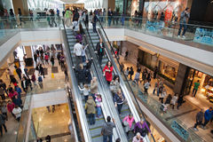 Outdoor shopping Mall stock image