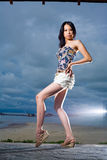 Outdoor shot of fashion model Royalty Free Stock Photo