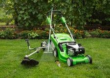 Outdoor shot of garden equipment. Stock Photography